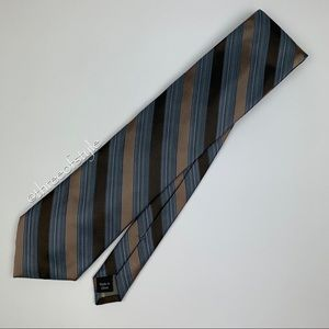 Calvin Klein Striped Silk Necktie